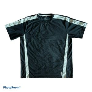 Reebok Black & Gray Performance Jersey T-shirt Tee